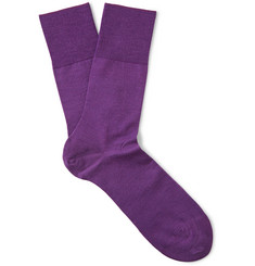 Falke Petunia Wool and Cotton-Blend Socks