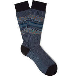 Pantherella Fawsley Patterned Cashmere-Blend Socks