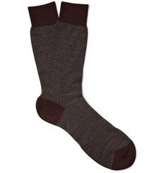 Pantherella Herringbone Wool-Blend Socks