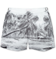 Orlebar Brown Bulldog Mid-Length Palm-Print Swim Shorts