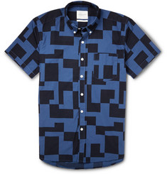 Saturdays Surf NYC Printed Button-Down Collar Cotton Shirt