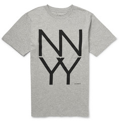 Saturdays Surf NYC NY Stack Printed Cotton-Jersey T-shirt