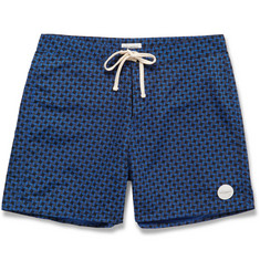 Saturdays Surf NYC Colin Mid-Length Printed Swim Shorts