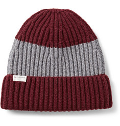 Saturdays Surf NYC Striped Wool-Blend Beanie Hat