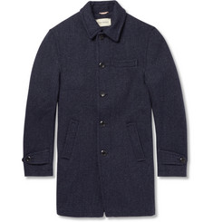 Oliver Spencer Woven-Wool Overcoat