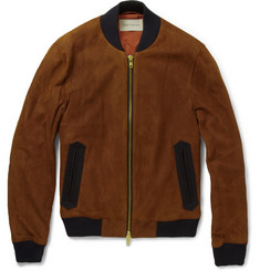 Oliver Spencer Suede Bomber Jacket