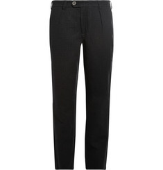 Oliver Spencer Houndstooth Wool and Cotton-Blend Suit Trousers