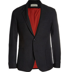 Oliver Spencer Charcoal Slim-Fit Houndstooth Wool and Cotton-Blend Suit Jacket