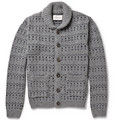 Oliver Spencer - Patterned Wool-Blend Shawl-Collar Cardigan