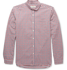 Oliver Spencer Gingham Check Cotton Penny-Collar Shirt