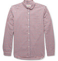 Oliver Spencer - Gingham Check Cotton Penny-Collar Shirt