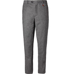 Oliver Spencer Regular-Fit Woven Cotton and Wool-Blend Trousers