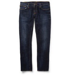Nudie Jeans Tight Long John Slim-Fit Organic Washed-Denim Jeans