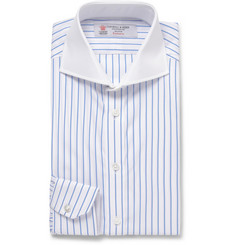 Turnbull & Asser White Striped Cotton-Poplin Shirt