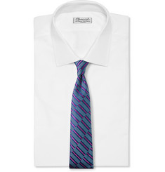 Turnbull & Asser Woven Stripe Silk-Satin Tie