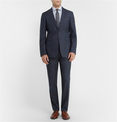 Turnbull & Asser Blue Slim-Fit Multi-Check Cotton Shirt