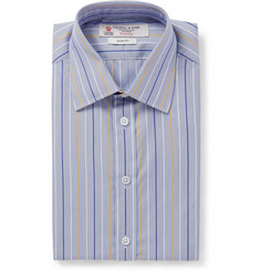 Turnbull & Asser Blue Slim-Fit Micro-Stripe Cotton Shirt