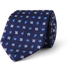 Turnbull & Asser Patterned Silk-Faille Tie