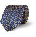Turnbull & Asser - Geometric-Patterned Woven-Silk Tie
