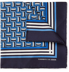 Turnbull & Asser Rope-Print Silk Pocket Square