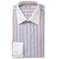Turnbull & Asser Multi-coloured Slim-Fit Cotton Oxford Shirt