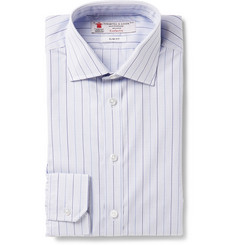 Turnbull & Asser Blue Slim-Fit Micro-Check Cotton Shirt