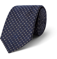 Turnbull & Asser Micro Dot-Patterned Cashmere, Wool and Silk-Blend Tie