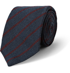 Turnbull & Asser Striped Cashmere, Wool and Silk-Blend Tie