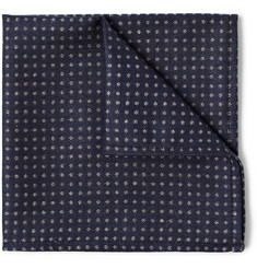 Turnbull & Asser Micro Dot-Patterned Cashmere, Wool and Silk-Blend Pocket Square