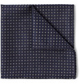 Turnbull & Asser - Micro Dot-Patterned Cashmere, Wool and Silk-Blend Pocket Square