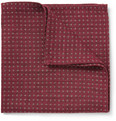 Turnbull & Asser - Wool, Cashmere and Silk-Blend Polka-Dot Pocket Square