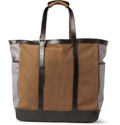 Paul Smith Shoes & Accessories Washed-Leather and Suede Tote Bag