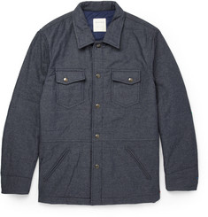 Billy Reid Quilted Herringbone Overshirt