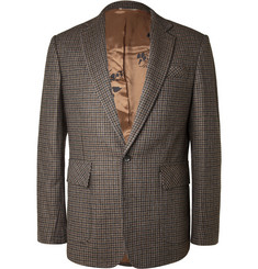 Billy Reid Houndstooth-Check Wool-Blend Blazer