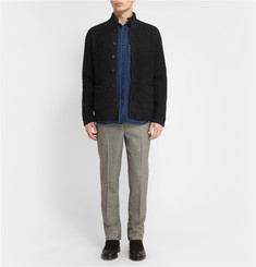 Billy Reid Textured-Knit Wool Cardigan