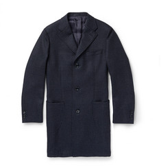 Thom Sweeney Checked Wool Overcoat
