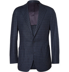 Thom Sweeney Slim-Fit Unstructured Check Wool Blazer