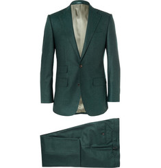 Thom Sweeney Green Weighouse Slim-Fit Wool Suit