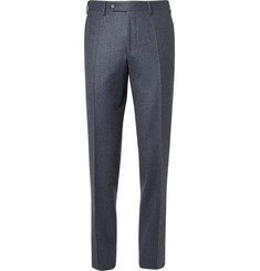 Canali Slim-Fit Super 120s Wool-Flannel Trousers