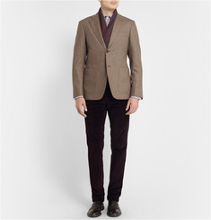 Canali Kei Unstructured Slim-Fit Wool Blazer