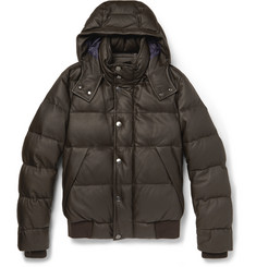 Canali Quilted Leather Down-Filled Jacket