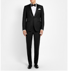 Canali Black Slim-Fit Jacquard Wool Tuxedo