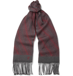 Canali Patterned Woven-Wool Scarf