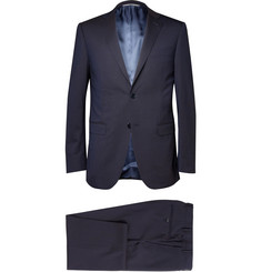 Canali Navy Wool Travel Suit