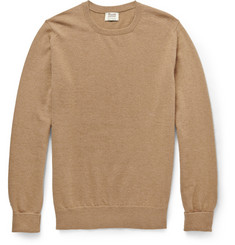 William Lockie Crew Neck Camel Sweater