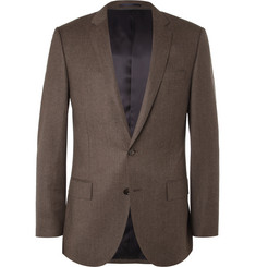J.Crew Brown Ludlow Slim-Fit Wool Suit Jacket