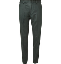 J.Crew Green Ludlow Wool Suit Trousers