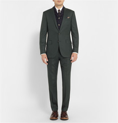 J.Crew Green Ludlow Regular-Fit Wool Suit Trousers