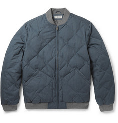 J.Crew Quilted Cotton-Blend Bomber Jacket