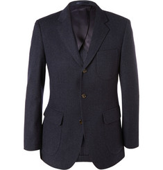 J.Crew Navy Ludlow Slim-Fit Wool and Cotton-Blend Suit Jacket
